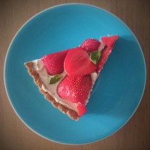 strawberry tart piece